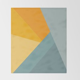 Abstract Mountain Sunrise Throw Blanket