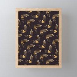 Gold Leaf Pattern Framed Mini Art Print