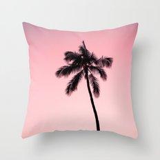 palm tree ver.pink Throw Pillow