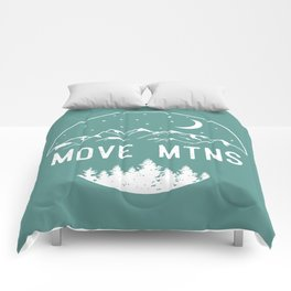 Move Mtns White Comforters