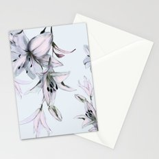 white lilies Stationery Cards