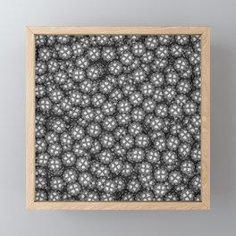 Poker chips B&W / 3D render of thousands of poker chips Framed Mini Art Print