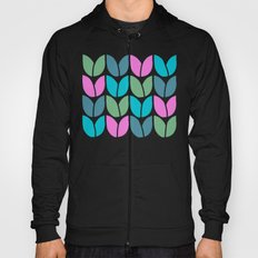 Tulip Knit (Teal Pink Blue Green) Hoody