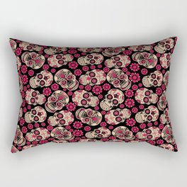 Calavera - Skull pattern day of the dead mexico flowers Rectangular Pillow