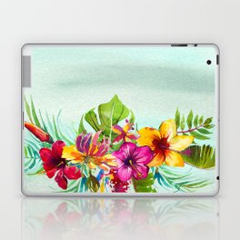 Tropical Summer Flowers 2 Laptop & iPad Skin