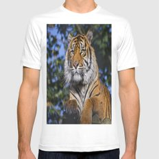 Eye of the tiger Mens Fitted Tee White MEDIUM