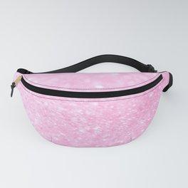 Pink Shiny Glitter Abstract Bokeh #decor #society6 Fanny Pack