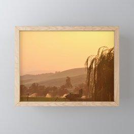 SUNSET OVER EASTERN OREGON Framed Mini Art Print