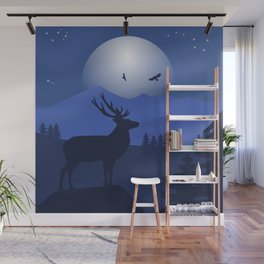Mystical Night in the Mountains Wall Mural