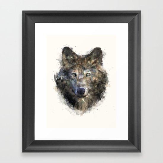Wolf // Secure Framed Art Print