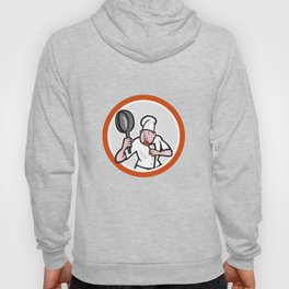 Chef Cook Holding Frying Pan Retro Hoody