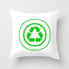 I'm Silently Judging You For Not Recycling Mother Earth Environmentalist Environmental T-shirt Throw Pillow