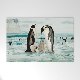 Emperor Penguin Family Welcome Mat