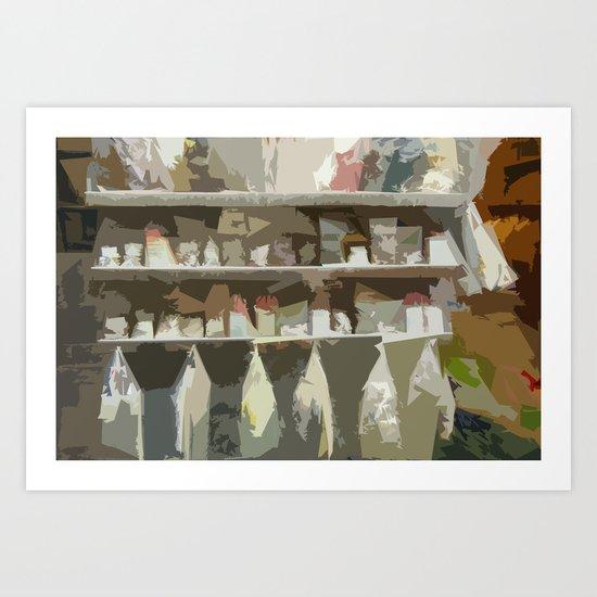 Italian Goods Shop Art Print