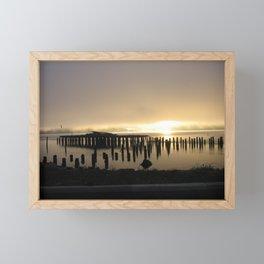 Sunrise over the Coos Bay Docks Framed Mini Art Print