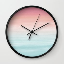 Touching Watercolor Abstract Beach Dream #1 #painting #decor #art #society6 Wall Clock