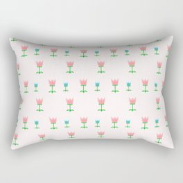 Cute Tulip Pattern Rectangular Pillow