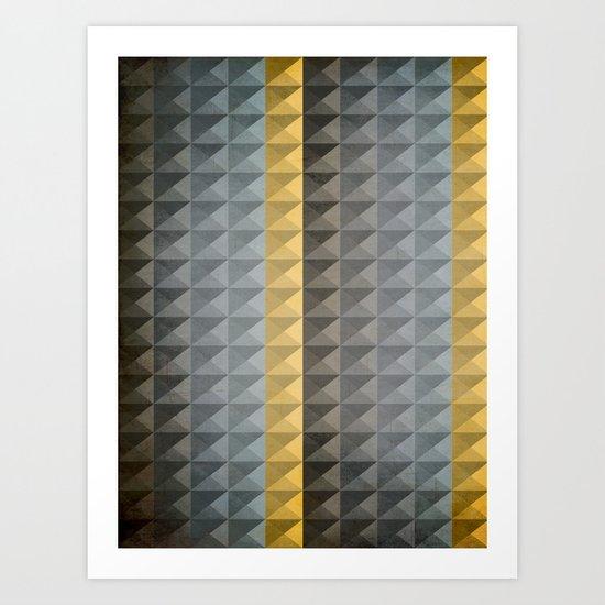 B/G/G/B/Y Art Print