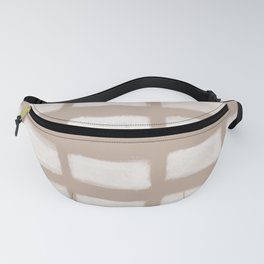Brush Strokes Horizontal Lines Off White on Nude Fanny Pack