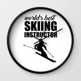 Skiing wintersport Wall Clock