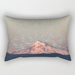 Mountain Mandala Rectangular Pillow