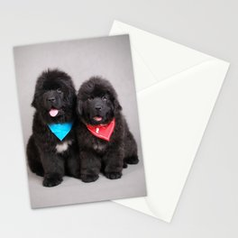 Two newfies Stationery Cards