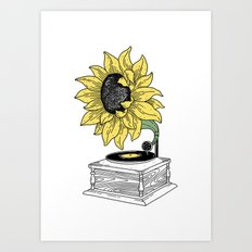 Singing in the sun Art Print