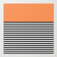 STRIPE COLORBLOCK {ORANGE} Canvas Print