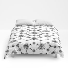 ancient sacred geomertry. seamless pattern. flower of life Comforters