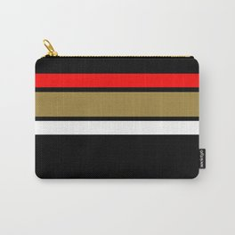 Team Colors...Red,gold,and white stripe Carry-All Pouch