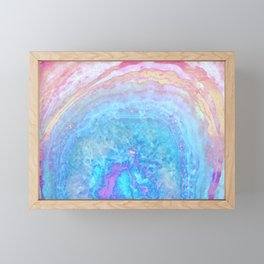 Into The Ether Agate Geode Framed Mini Art Print