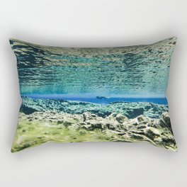 Straddling Continents Rectangular Pillow