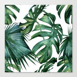 Simply Island Palm Leaves Canvas Print
