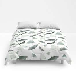 Watercolor Moths Comforters