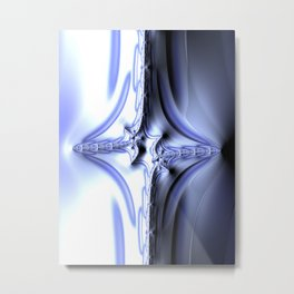 Blue Diamond Abstract Fractal Metal Print