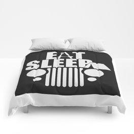 eat sleep jeep Comforters
