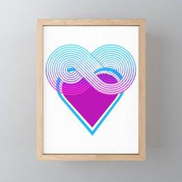 Infinite Heart Framed Mini Art Print
