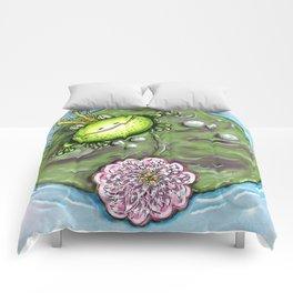 Frog Prince on His Lily Pad Comforters
