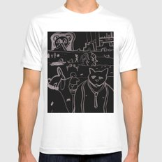 Untitled #10 White Mens Fitted Tee MEDIUM