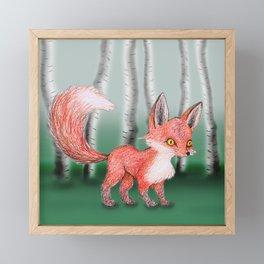 Cute fox Framed Mini Art Print
