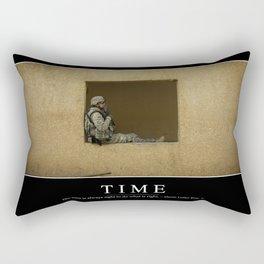 Time: Inspirational Quote and Motivational Poster Rectangular Pillow