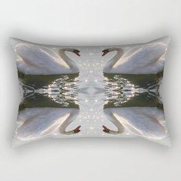 one swan a swimming Rectangular Pillow