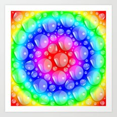 Water Rainbow Art Print