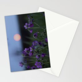 Moon flowers Stationery Cards