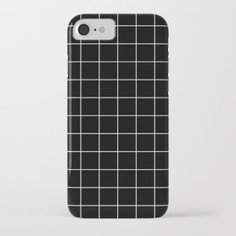 Grid Simple Line Black Minimalistic iPhone Case