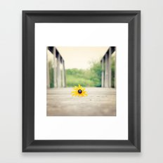 which bridge to cross Framed Art Print