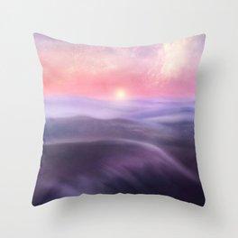 Minimal abstract landscape III Throw Pillow