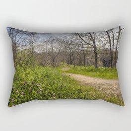 Troubled summer woods Rectangular Pillow