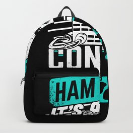 Ham Radio It's A Contact Sport Amateur Hams Gift Backpack