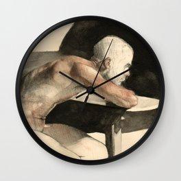 The Pondering Man Wall Clock